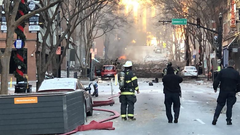 """Explozie puternică în centrul orașului american Nashville, în ziua de Crăciun. Poliția spune că a fost """"un act intenționat"""""""