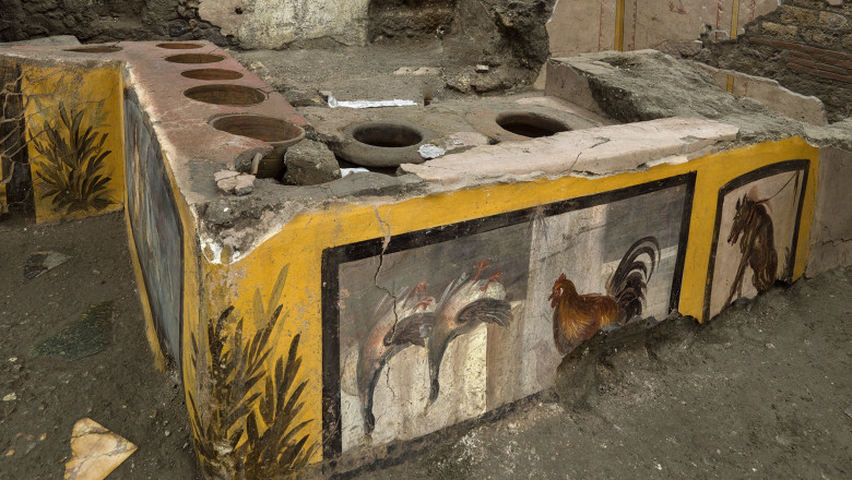 Pompeii, a 'street food shop' emerges from the site