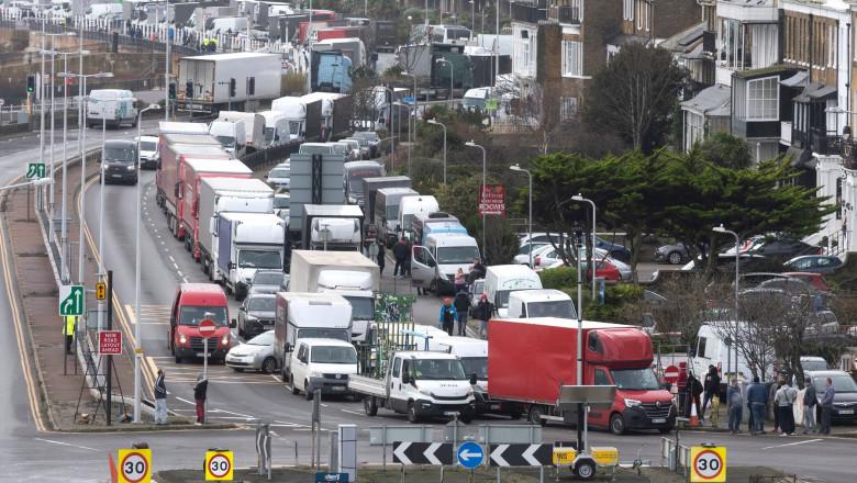 Port of Dover closed, Dover, UK - 22 Dec 2020