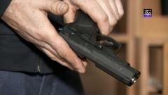 pistol tinut in mana