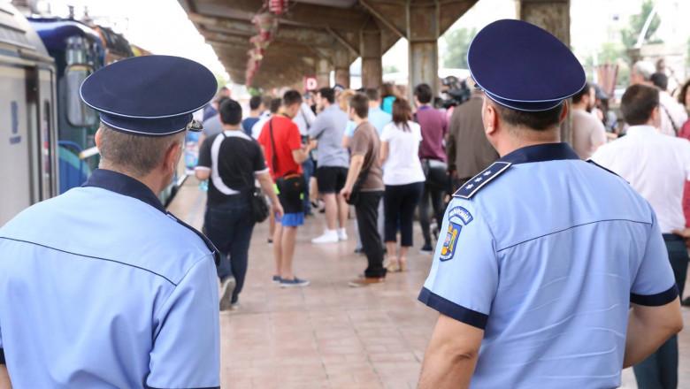 politia gara tren CFR FB