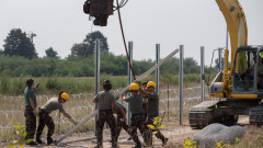 Hungary Builds Migrant Fence On Its Border With Serbia