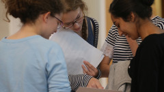 Girls At Edgbaston High School Receive Their A'Level Results
