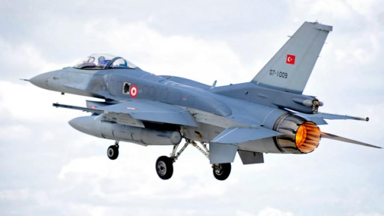 avion militar vanatoare f 16 turcia
