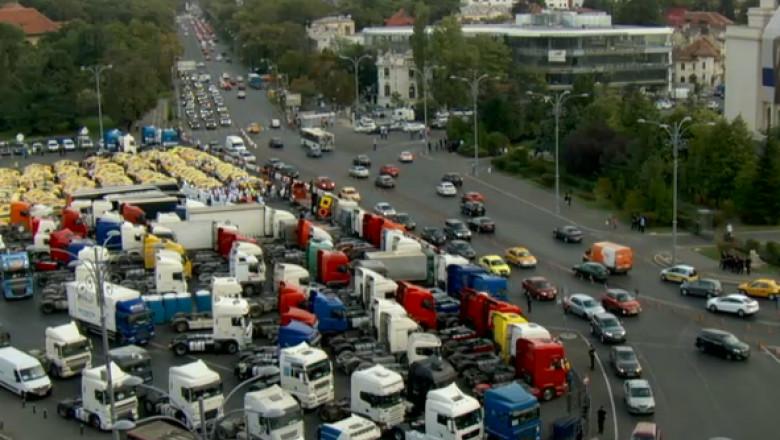 protest transportatori unirii