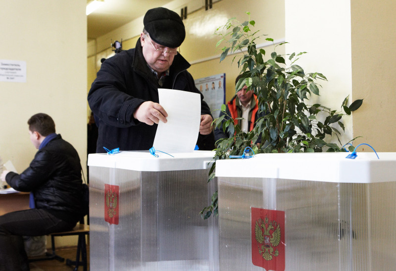 Russians Go To The Polls In Presidential Election