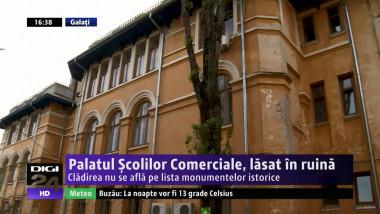 Palatul Scolilor Comerciale, lasat in ruina