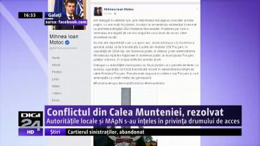 Conflictul din Calea Munteniei, rezolvat