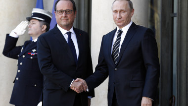 """Elysee Palace Hosts the """"Normandy Format"""" Summit In Paris"""