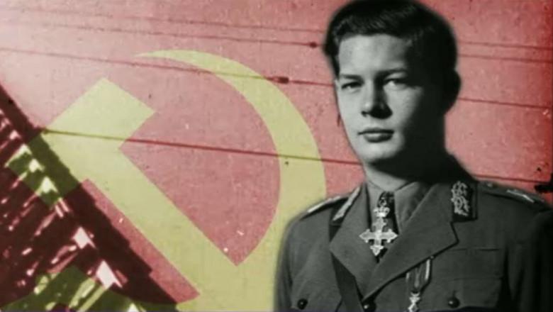 regele mihai sigla comunista in spate - captura