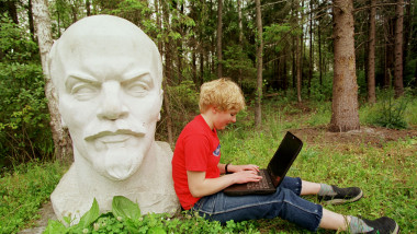 Relaxing with Lenin in Lithuania
