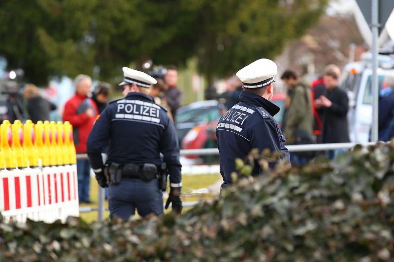 politisti pe strada in germania