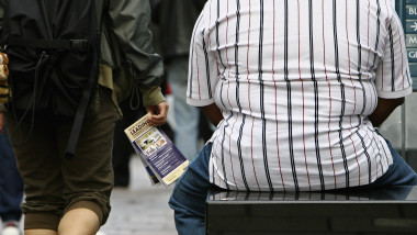 Overweight people in Glasgow City Centre