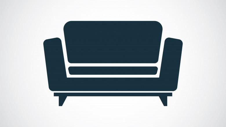 Casă şi canapea de piatră