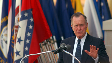 Former President George H. W. Bush Attends Building Dedication At Fort Bragg