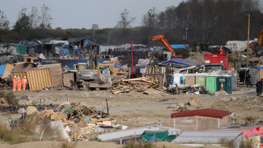 Large Scale Demolition Of The Calais Migrant Camp Begins