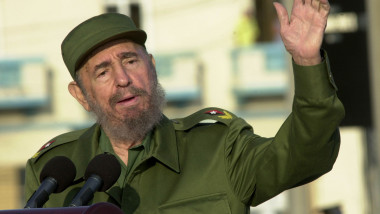 Castro Leads Massive Anti-U.S. Demo