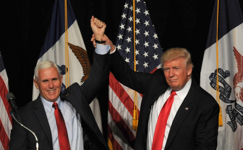 GOP Presidential Candidate Donald Trump Campaigns In Des Moines, Iowa
