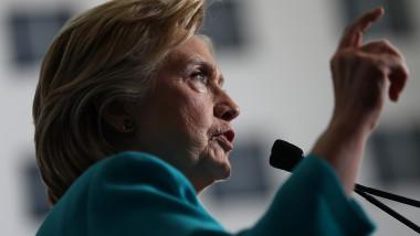 Hillary Clinton Discusses Donald Trump's Policies At Reno, NV Campaign Event