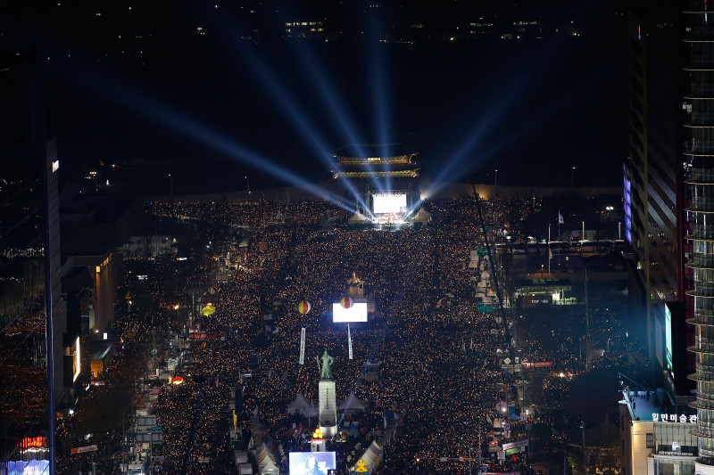 Rally Against President Park Continues In Seoul