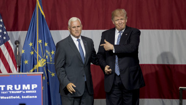 Donald Trump Holds Campaign Rally In Indiana