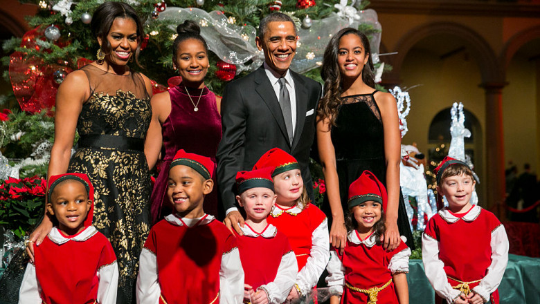 """Obama Family Attends """"Christmas In Washington"""" Performance"""