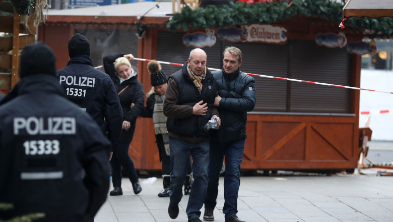 Lorry Drives Through Christmas Market In Berlin