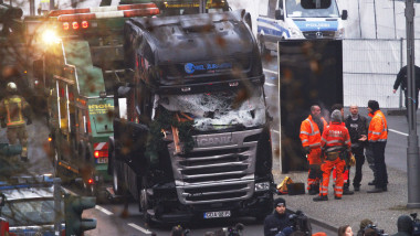 Lorry Truck Drives Through Christmas Market In Berlin