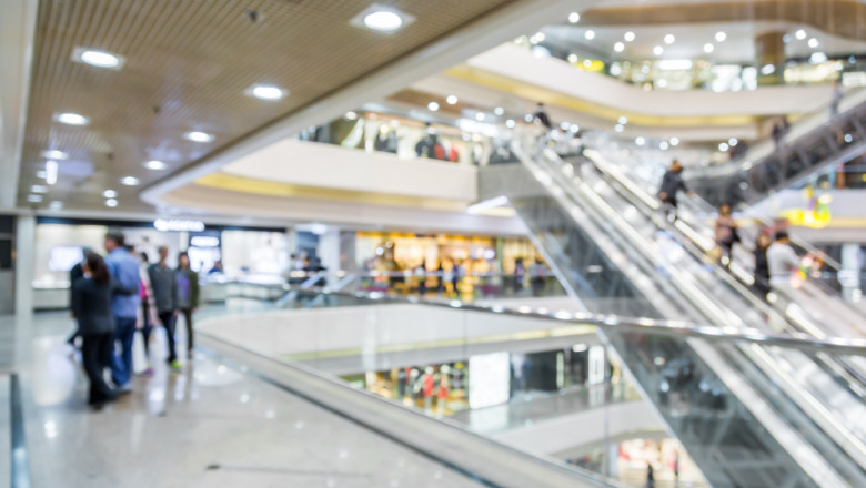 Blurred the Shopping Mall background