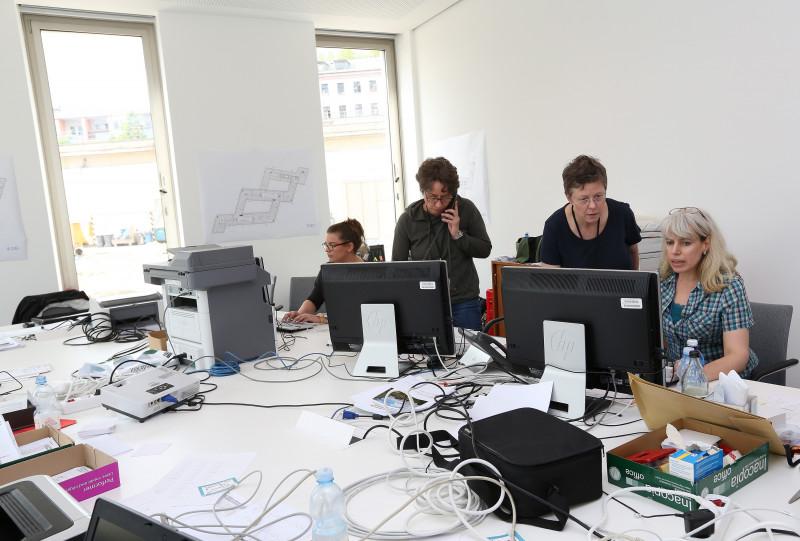 Interior Minister de Maiziere Moves Into New Office