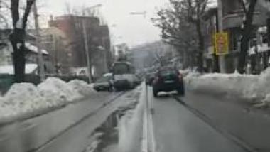 masina blocaj tramvai