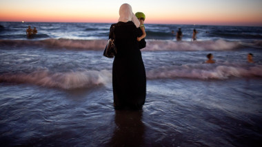Palestinian Pilgrims Are Admitted Into Israel To Celebrate Eid al-Fitr In Tel Aviv
