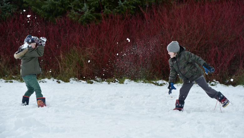 Snow Hits Parts Of The UK