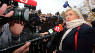 French Far-Right National Front President Marine Le Pen Is At Henin Beaumont For North Regional Elections