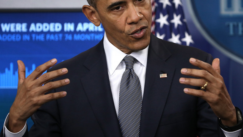 President Obama Speaks On The Economy In The Brady Press Briefing Room