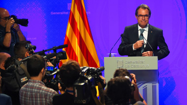 Artur Mas Press Conference After Calling Catalonia Early Regional Election