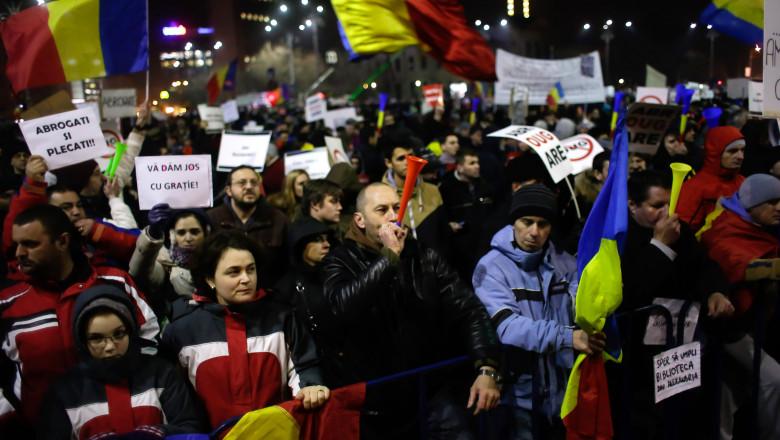 BUCURESTI - PROTEST - GUVERN - ZIUA A IV-A