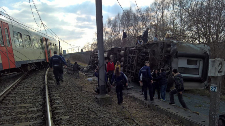 accident tren deraiat belgia