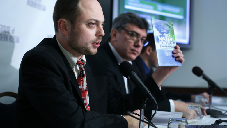 Russian Opposition Leaders Discuss Corruption At Sochi Olympics