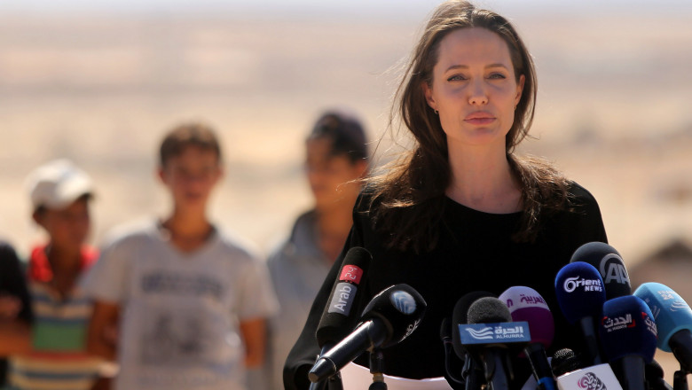 Angelina Jolie Attends UNHCR Press Conference