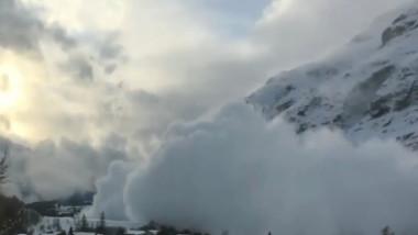 avalansa in alpi 15 01 2016
