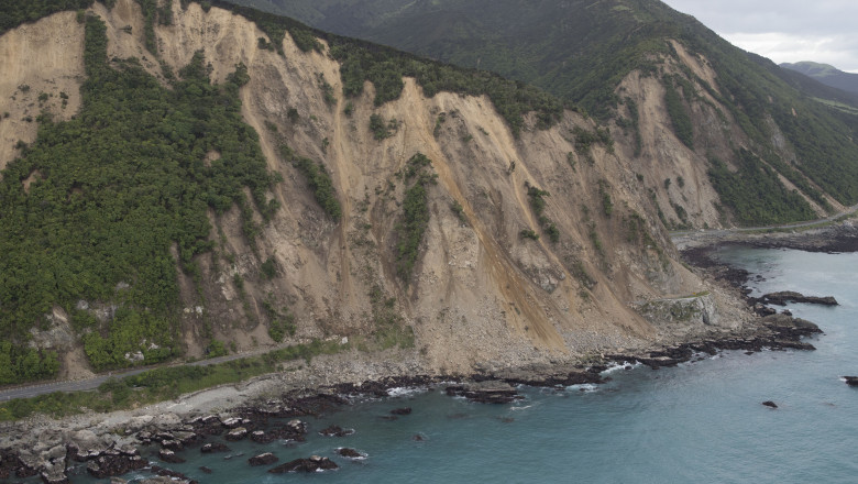 Residents Survey Damage Following 7.5 Magnitude Earthquake In New Zealand