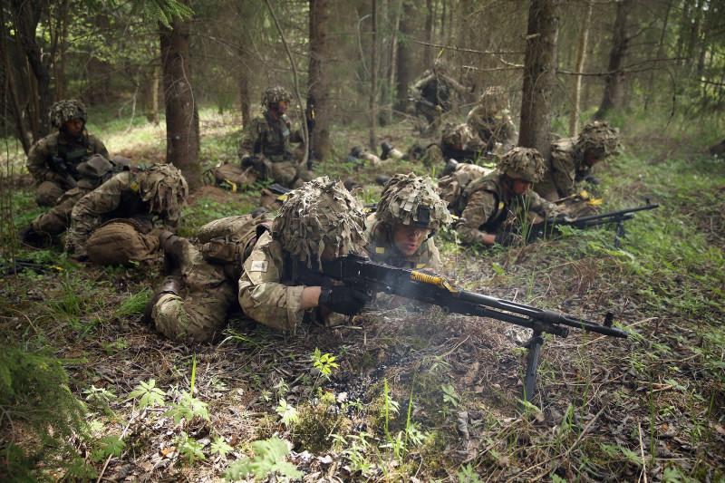 "NATO Holds ""Spring Storm"" Military Exercises"