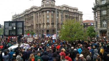 proteste serbia - b92
