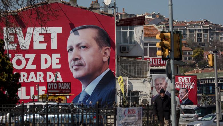 The Omnipresent Image Of President Erdogan As Turkey Faces Referendum