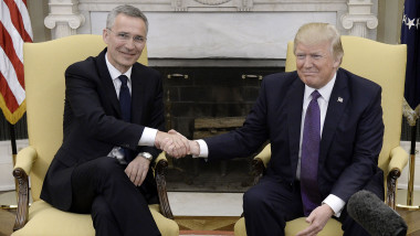 President Donald Trump Meets With NATO Secretary General Jens Stoltenberg