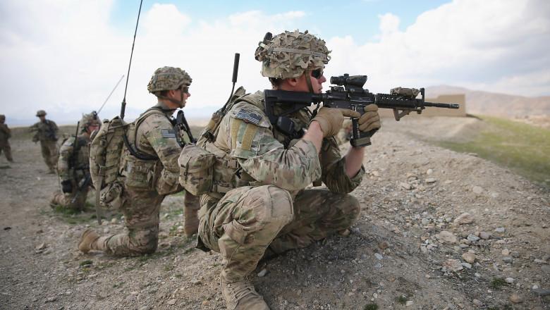 US Troops Patrol Village In Afghanistan's Logar Province