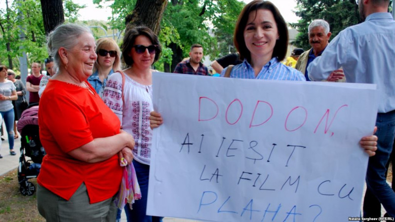 maia sandu protest - europa libera