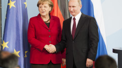 Putin Meets With Merkel In Berlin