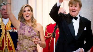 Festive Dinner And Public Opening Of Royal Palace To Mark King Willem-Alexander's 50th Birthday In Amsterdam